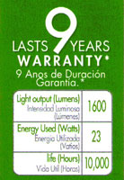 CFLs don't last nine years.