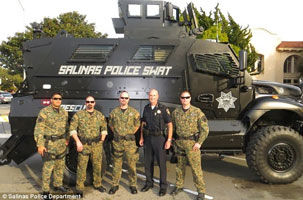 Salinas CA armored vehicle