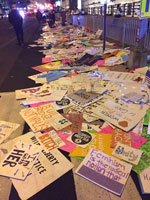 Trash from the Women's March