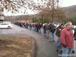 Gun registration line