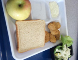 Michelle Obama's idea of a hearty lunch
