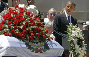 Obama at Byrd funeral