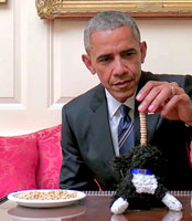 Obama stacks Cheerios