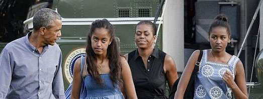 The disgruntled Obama family