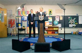 Teleprompter in elementary school