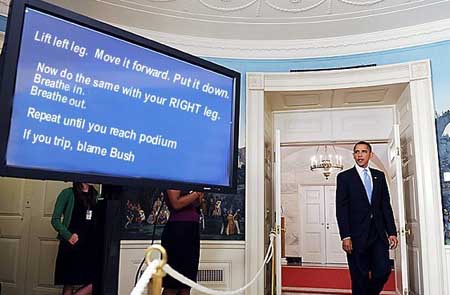 Teleprompter instructions