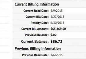 Big water bill