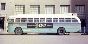 KRLD ad on a city bus